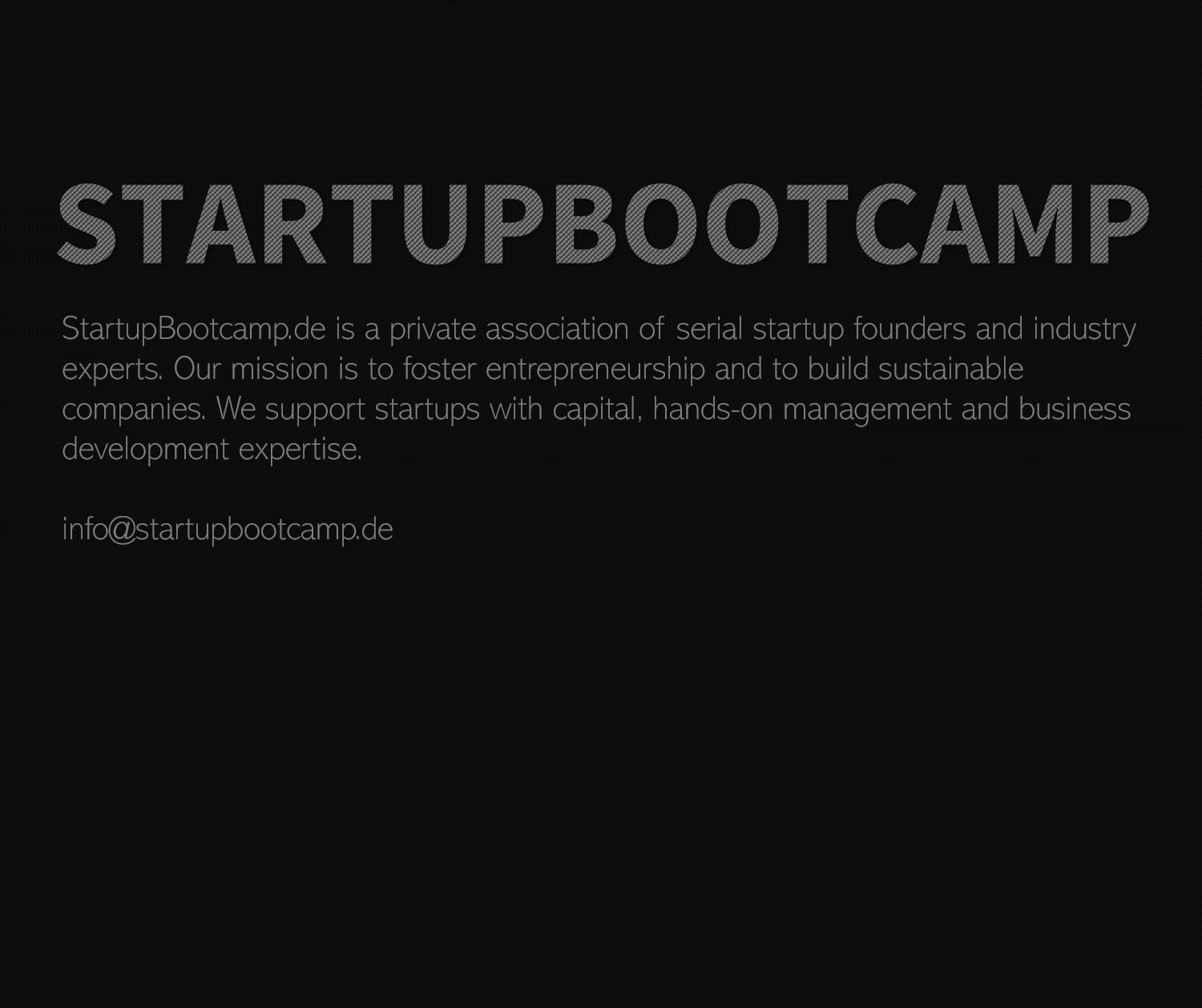 StartupBootcamp Tips